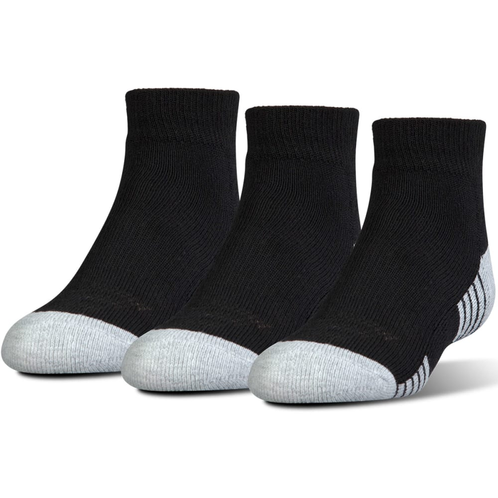 UNDER ARMOUR Men's Heatgear  Low-Cut Socks, 3 Pack - BLACK