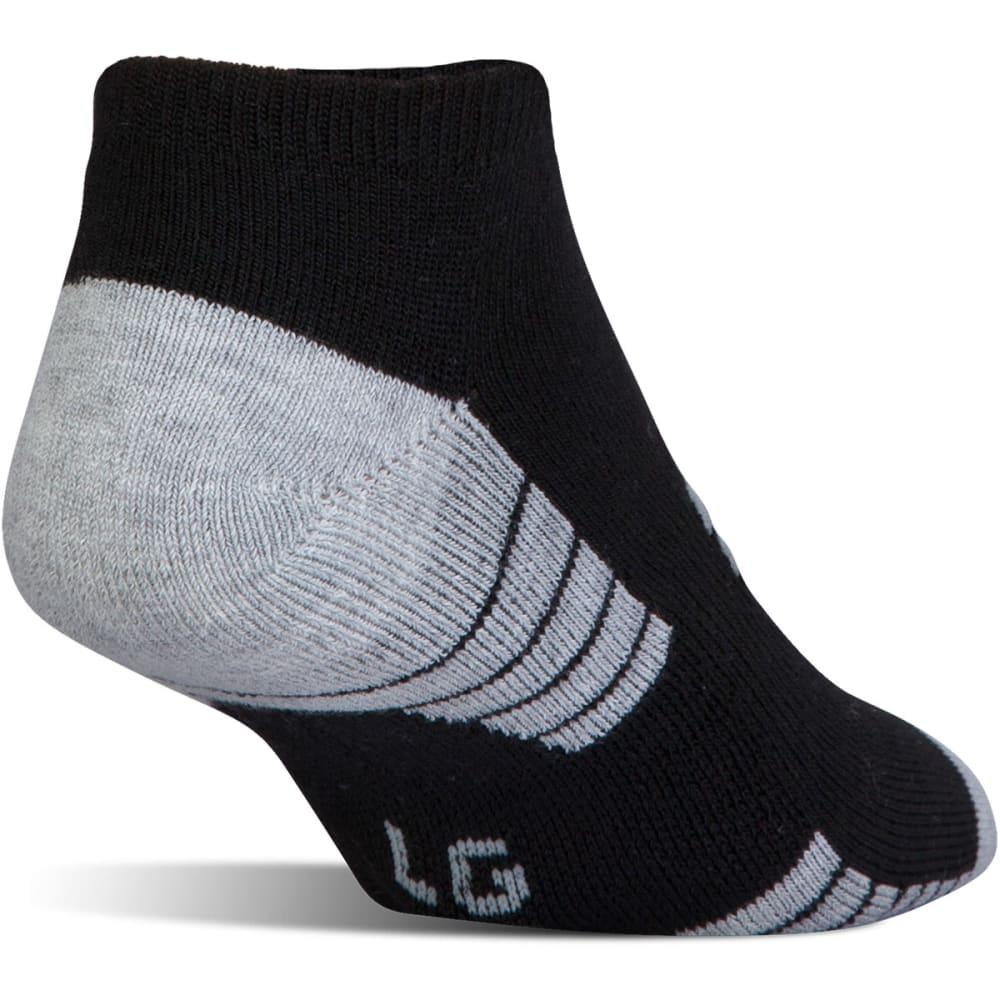 UNDER ARMOUR Men's HeatGear Tech No-Show Socks, 3 Pack - BLACK