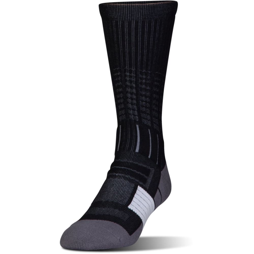 UNDER ARMOUR Men's UA Unrivaled Crew Socks - Black- 001