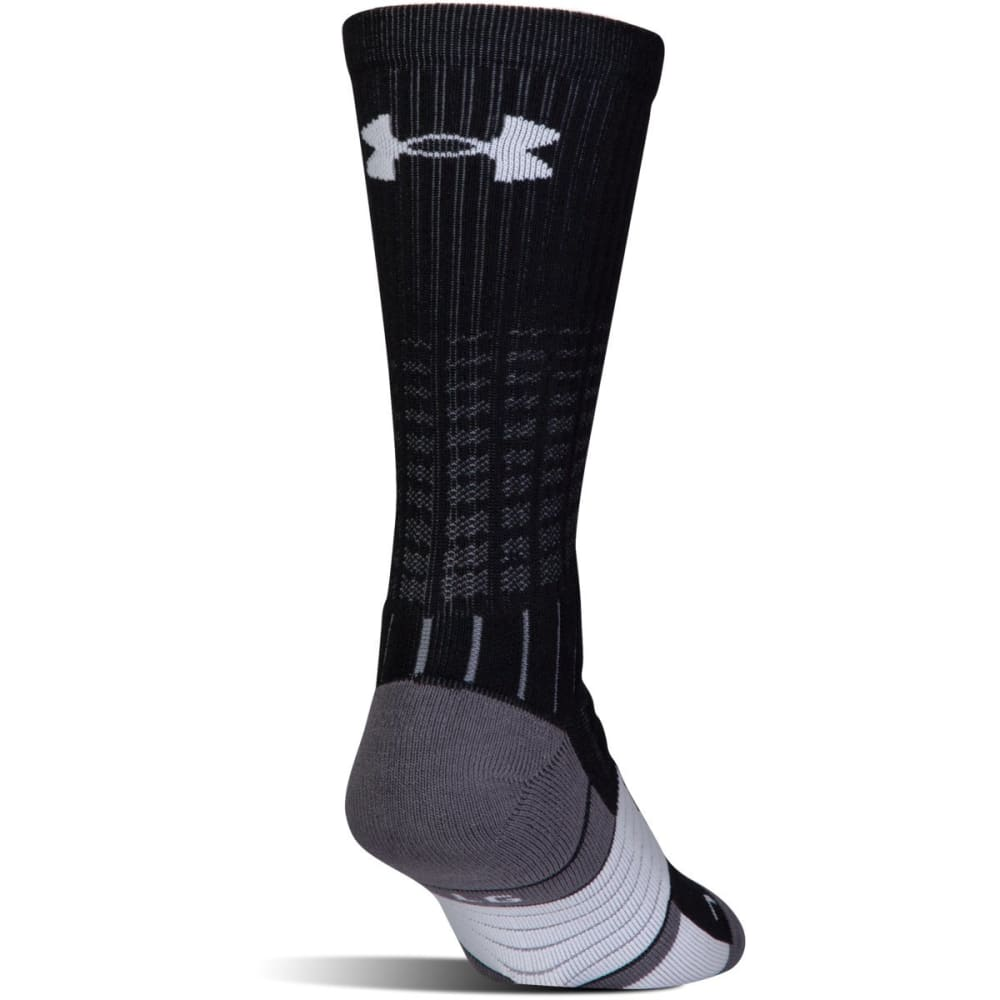 UNDER ARMOUR Men's UA Unrivaled Crew Socks - Black- 001