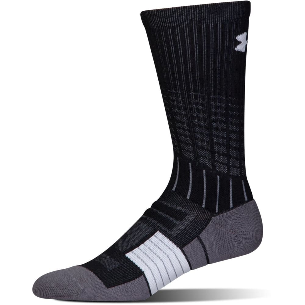UNDER ARMOUR Men's UA Unrivaled Crew Socks L