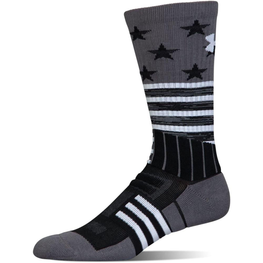 UNDER ARMOUR Men's Unrivaled Stars and Stripes Crew Socks - BLACK 001