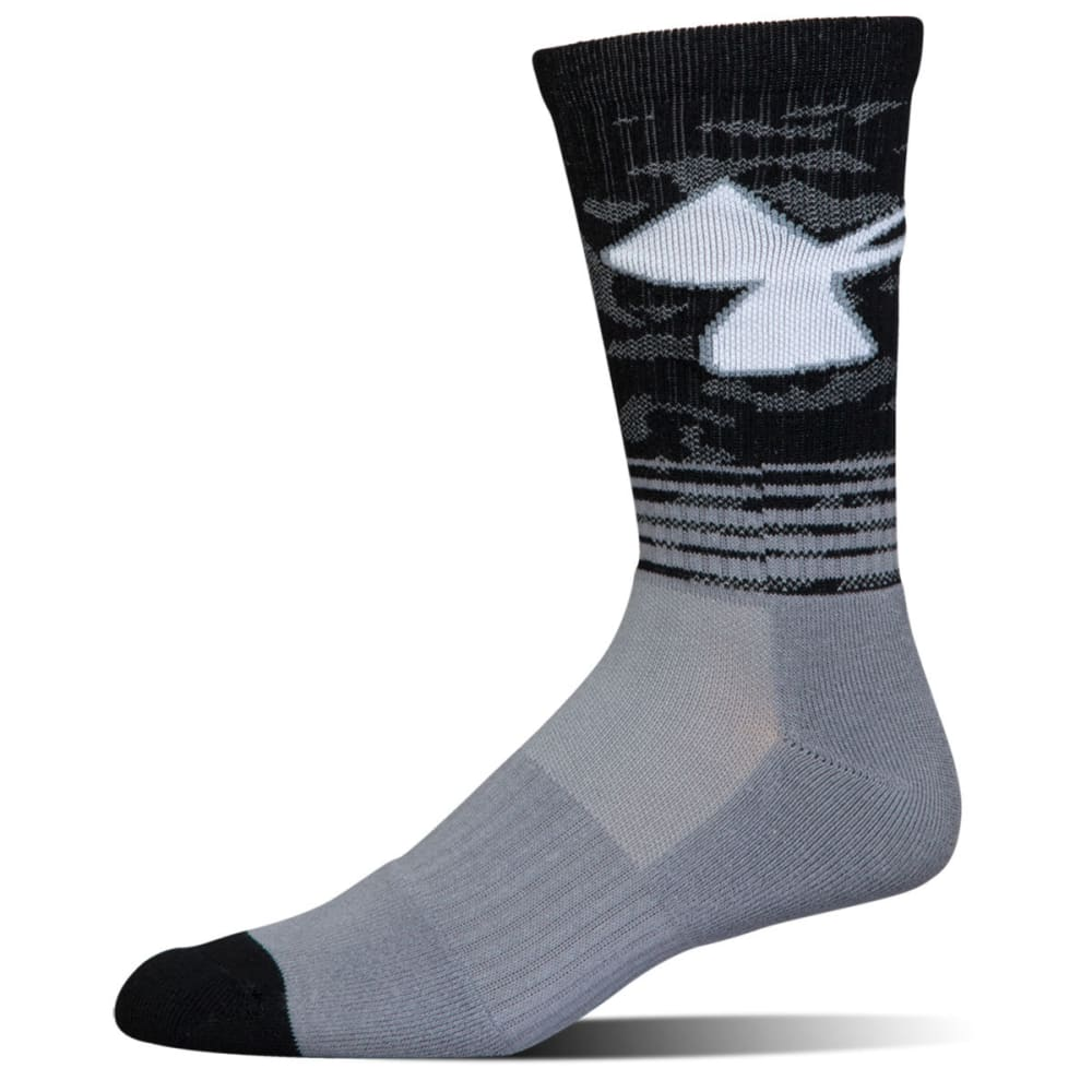 UNDER ARMOUR Men's Phenom 2.0 Crew Socks, 3 Pack - steel grey asst 960
