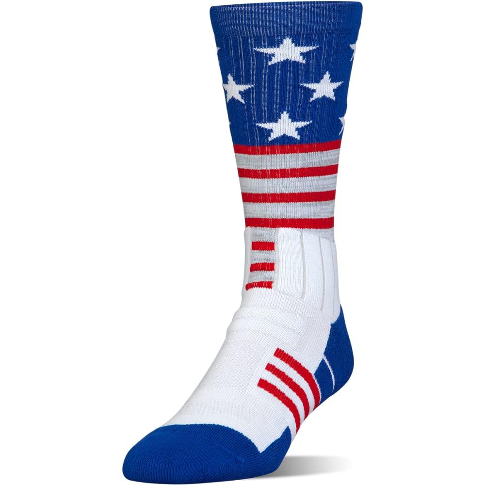 UNDER ARMOUR Boys' Unrivaled Stars and Stripes Crew Socks - WHITE 170