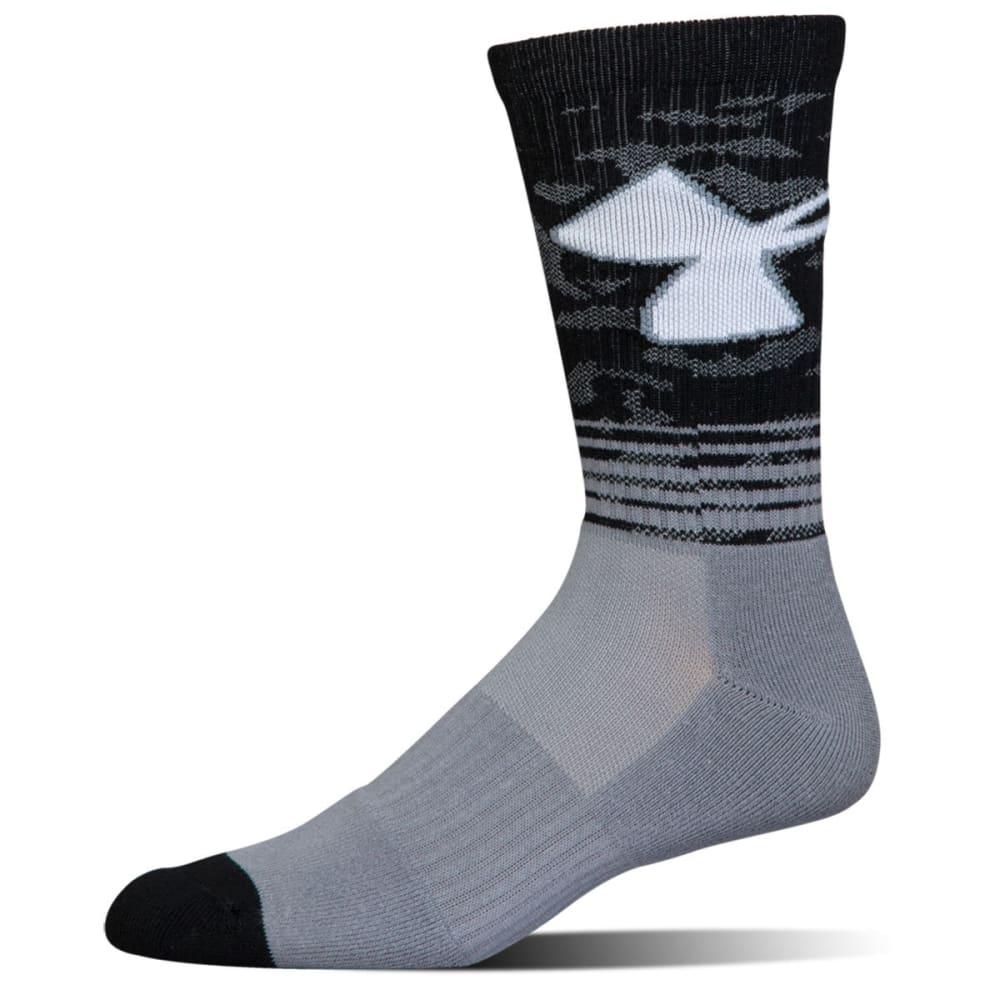 UNDER ARMOUR Boys' Phenom 2.0 Crew Socks - steel grey asst 960