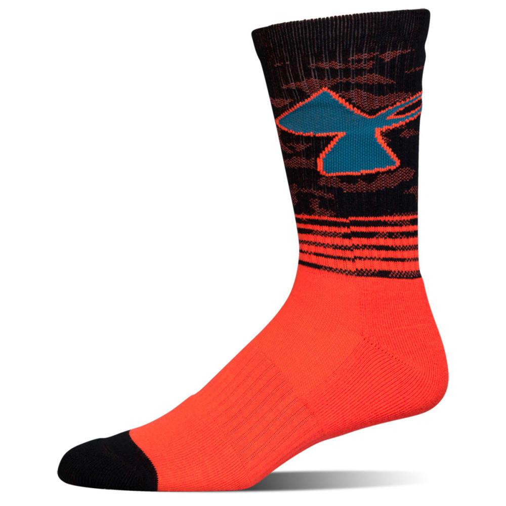 UNDER ARMOUR Boys' Phenom 2.0 Crew Socks - bolt orange asst 963
