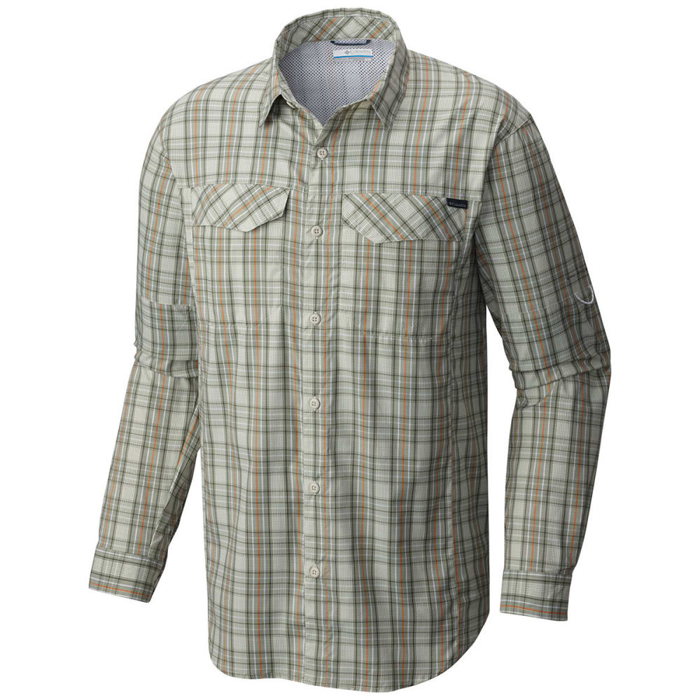 Columbia Men's Silver Ridge Lite(TM) Plaid Long-Sleeve Shirt - Green, L