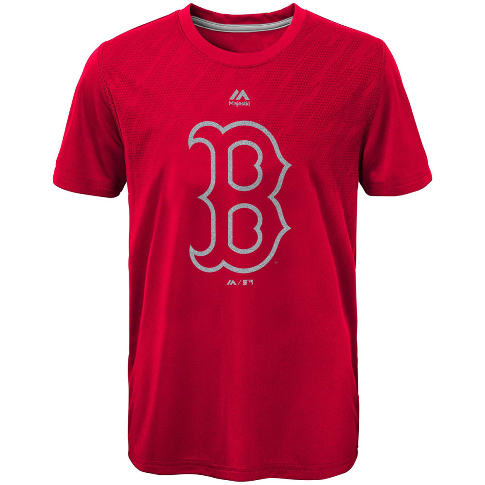 BOSTON RED SOX Boys' Geo Fuse Fade Short-Sleeve Tee - RED