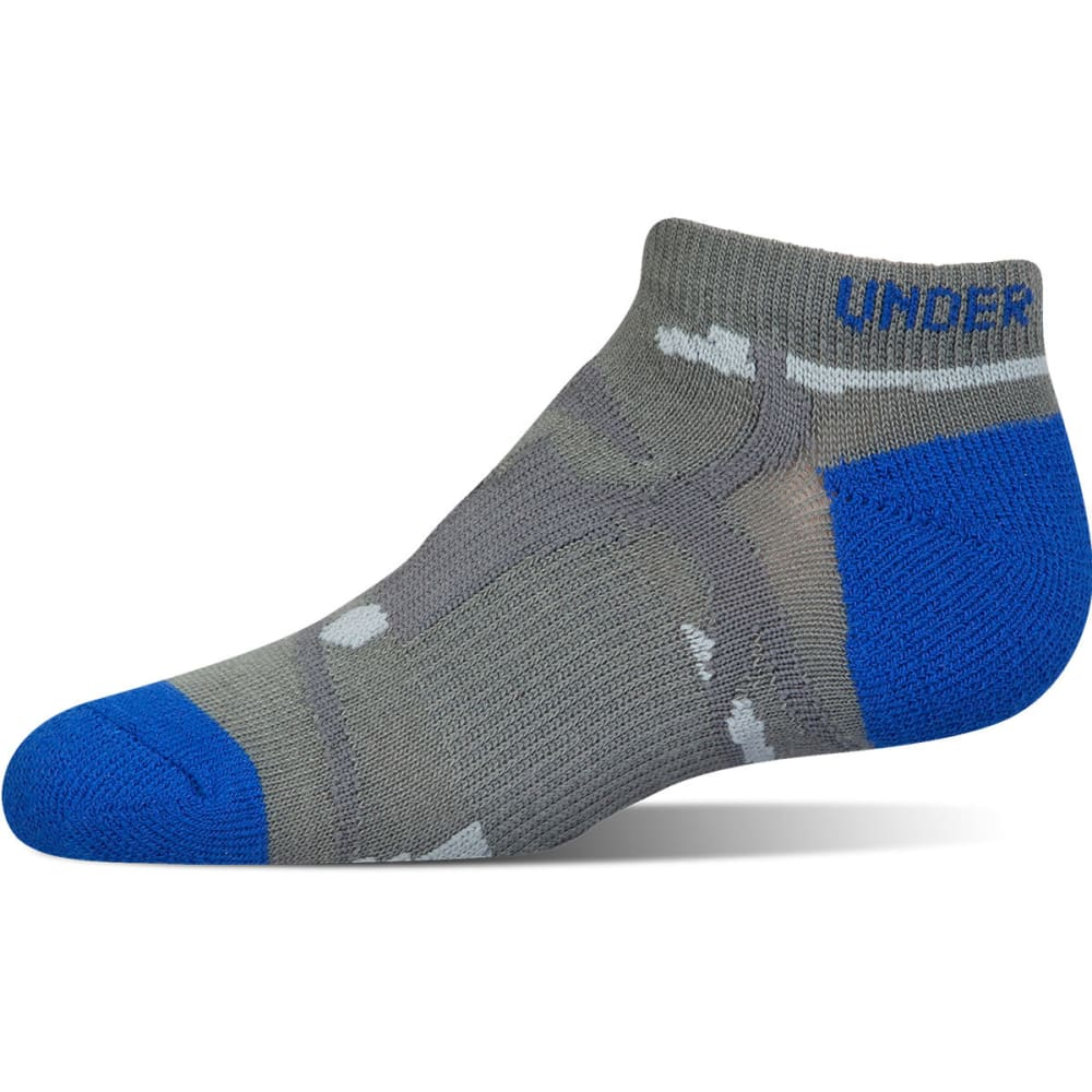 UNDER ARMOUR Boys' Next Statement No show Socks, 3 Pack - ULTRA BLUE  ASST 961