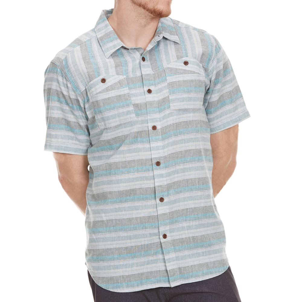 Columbia Men's Southridge Yarn Dye Short-Sleeve  Shirt - Green, XL