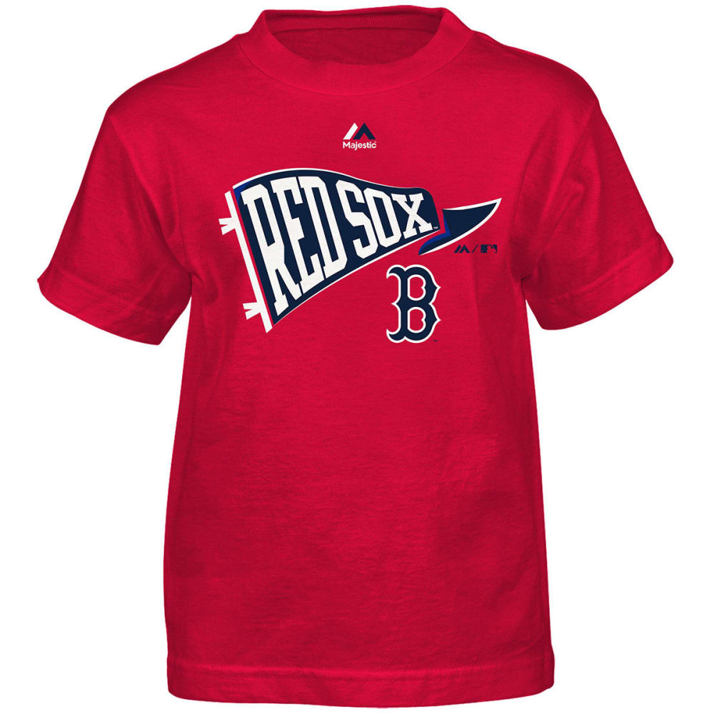 BOSTON RED SOX Boys' Team Pennant Short-Sleeve Tee - RED
