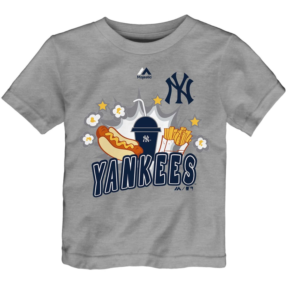 NEW YORK YANKEES Toddler Boys' Snack Attack Short-Sleeve Tee - GREY