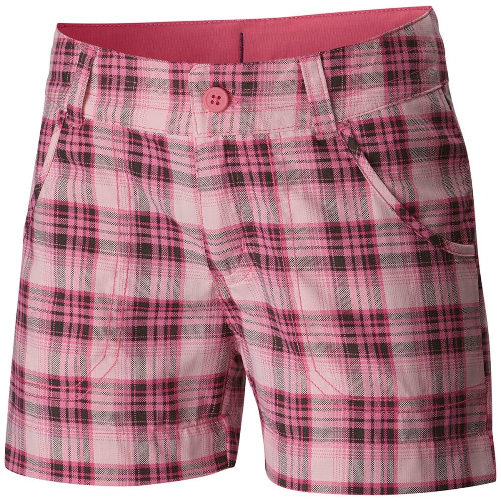 Columbia Girls' Silver Ridge Printed Shorts - Red, S