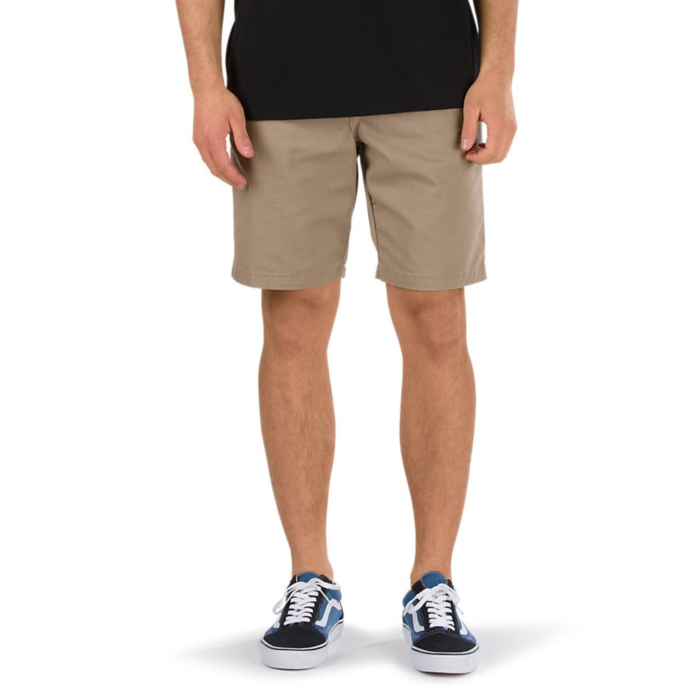 VANS Guys' Authentic Stretch Shorts - MILITARY KHAKI