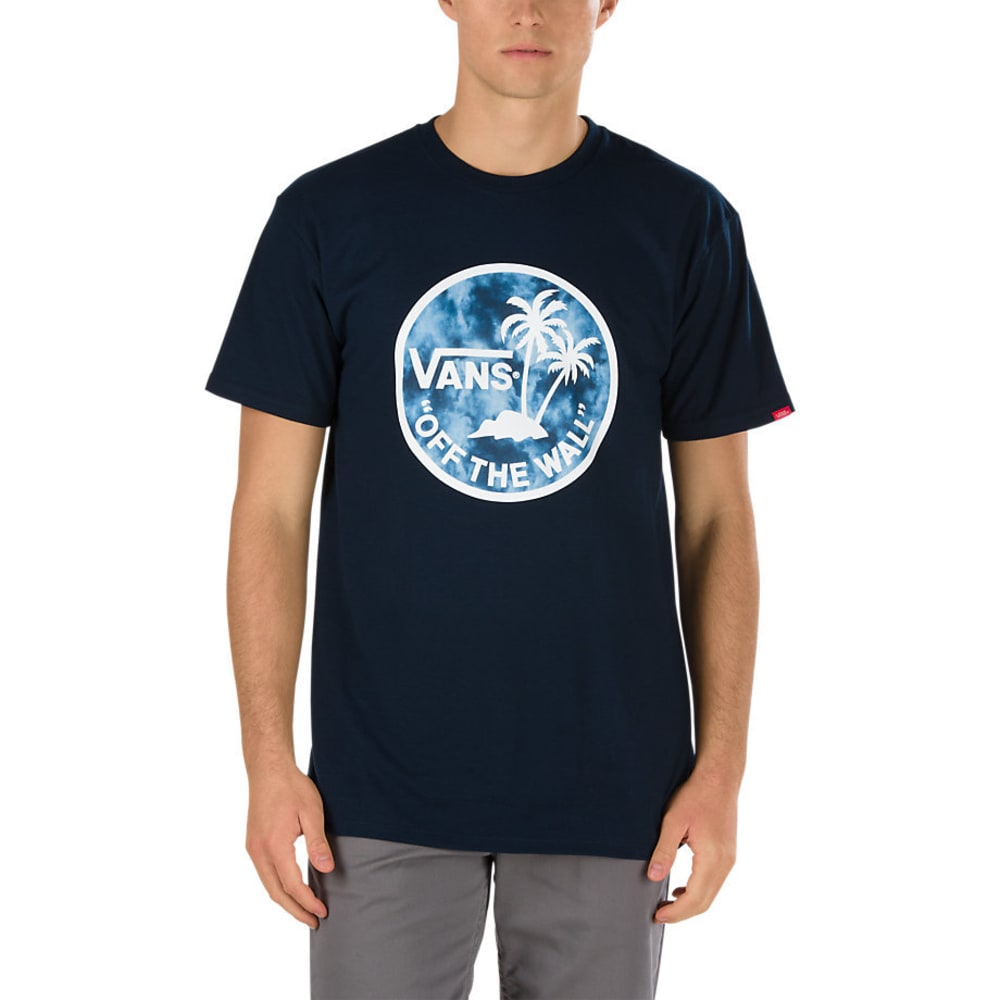 VANS Guys' Dual Palm Fill Short-Sleeve Tee - NAVY/SARK STORM