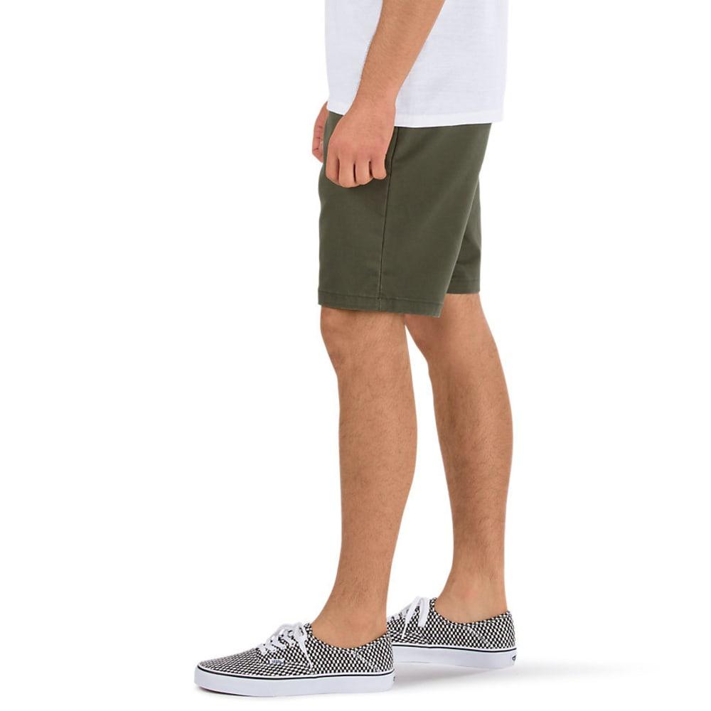 VANS Guys' Authentic Stretch Shorts - GRAPE LEAF