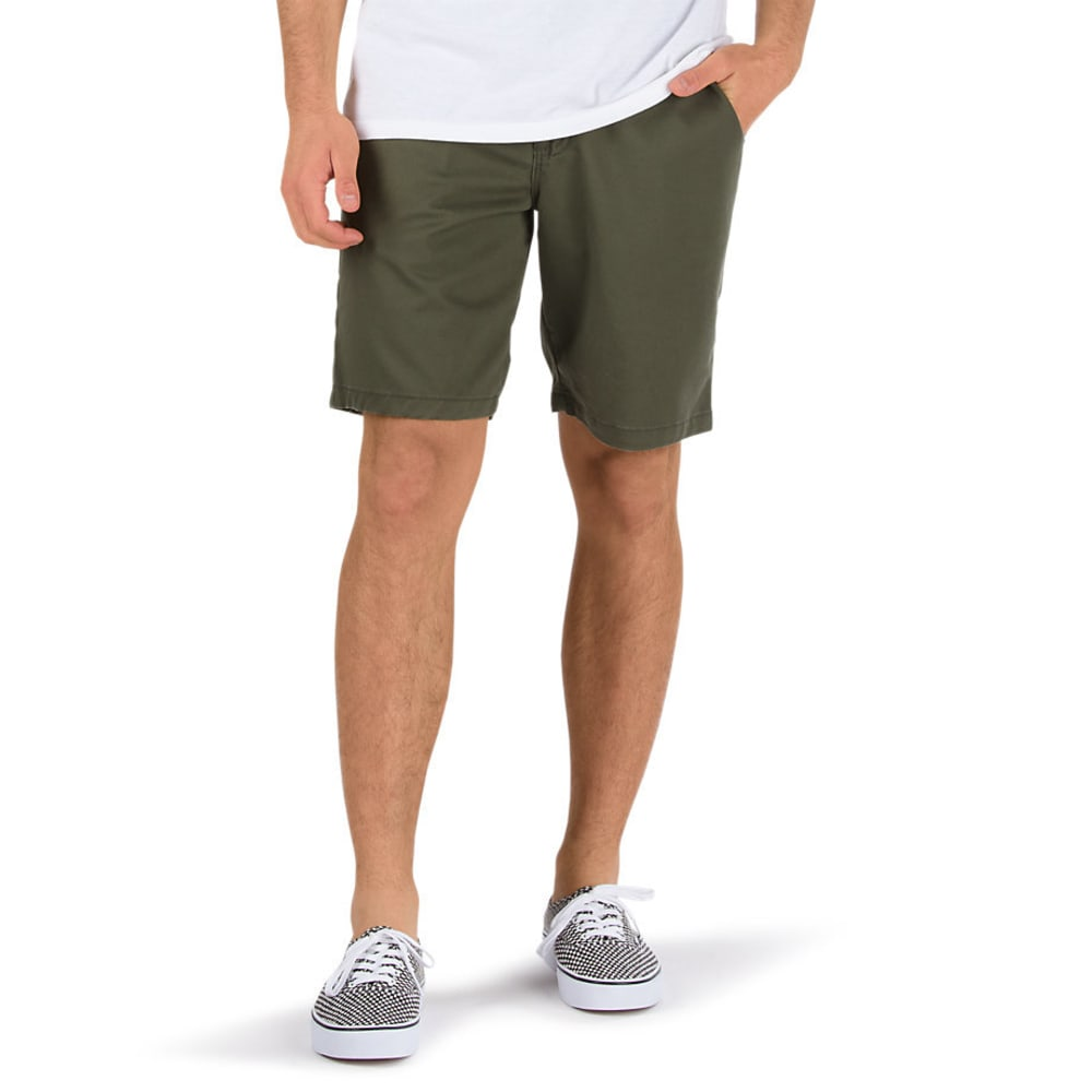 VANS Guys' Authentic Stretch Shorts - GRAPE LEAF