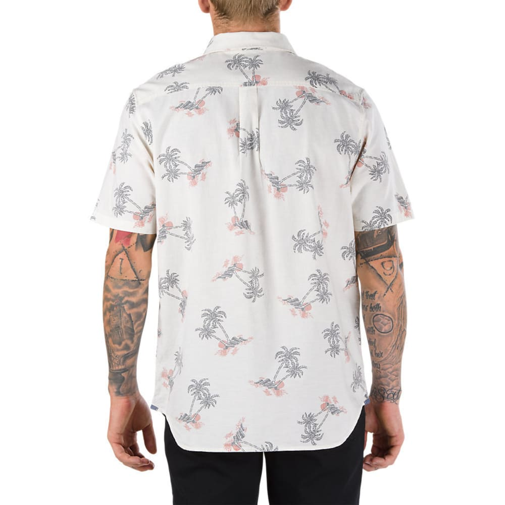 VANS Guys' Salado Woven Short-Sleeve Shirt - TURTLEDVEHAVANAFLORL