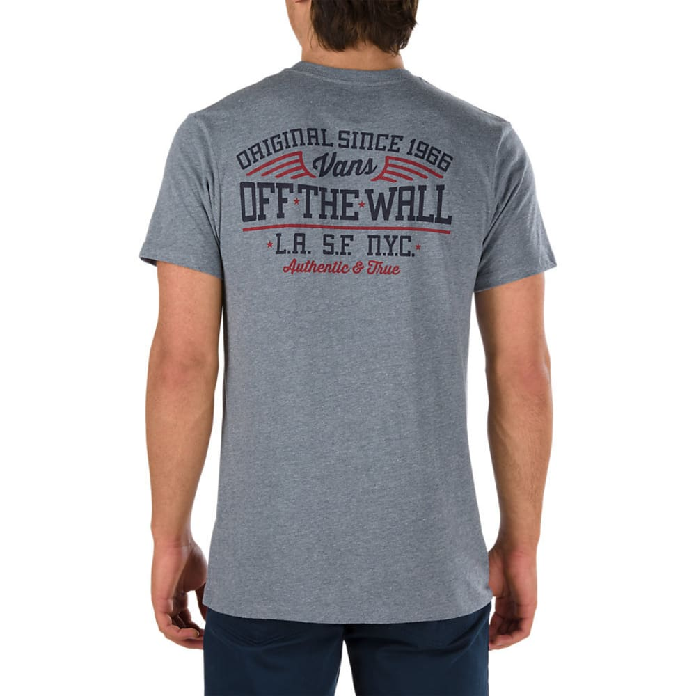 VANS Guys' Since 66 Pocket Short-Sleeve Tee - HEATHER GREY