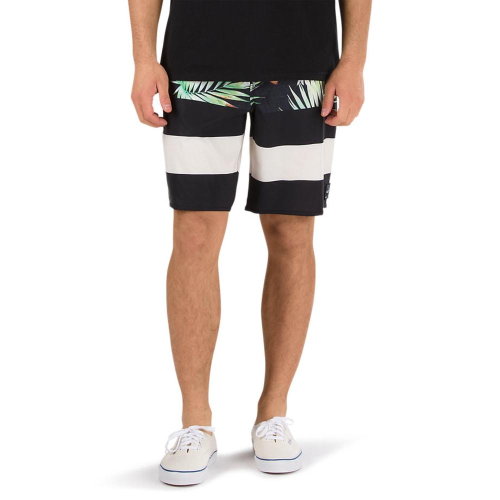 VANS Guys' 20 in. Era Boardshorts - BLACK DECAY/PALM