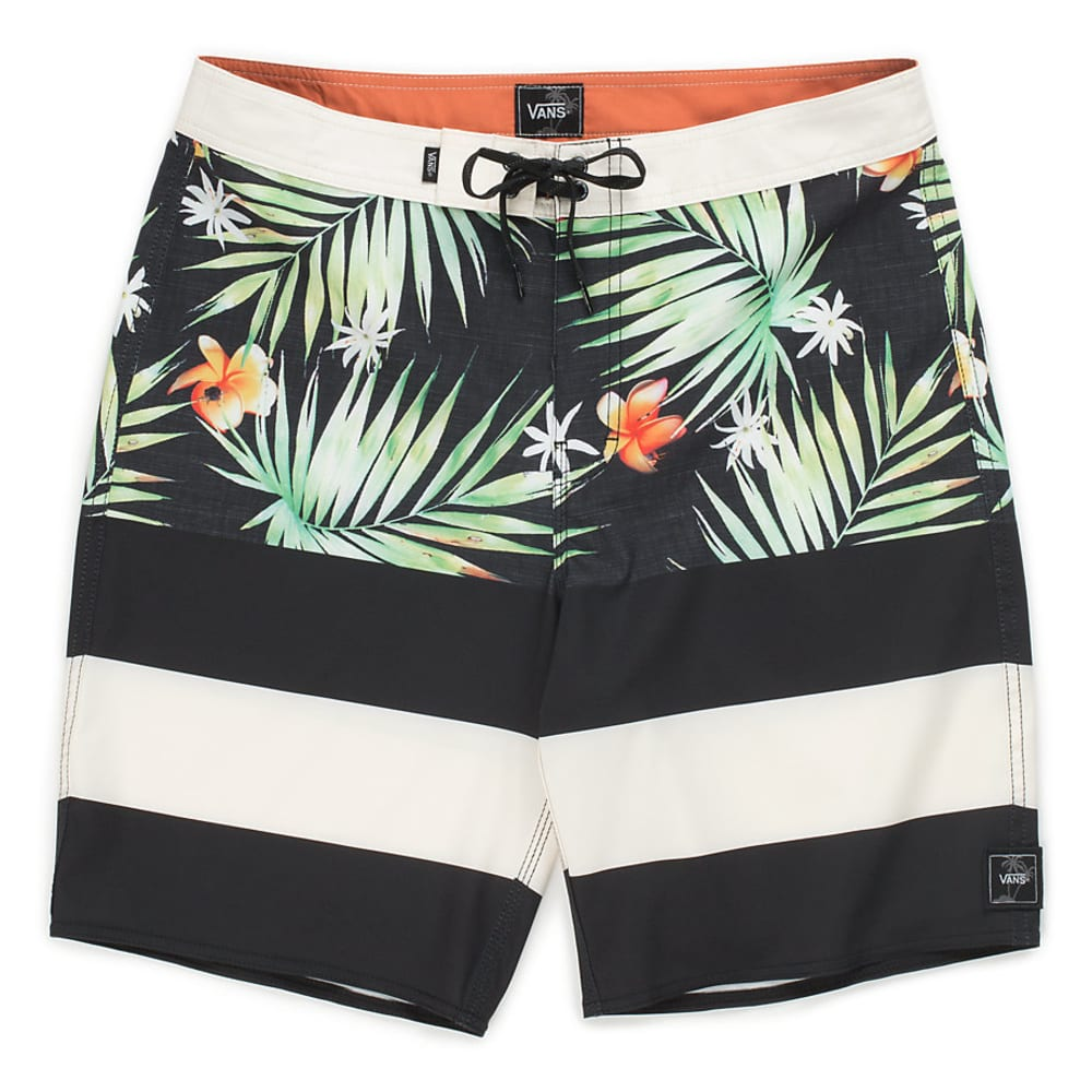 VANS Guys' 20 in. Era Boardshorts - BLACK DECAY/PALM