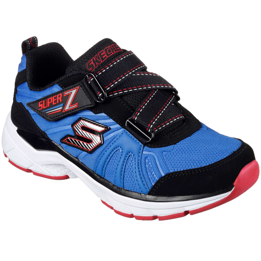 SKECHERS Boy's Ultrasonix Shoes, Blue/Black - BLAST BLUE