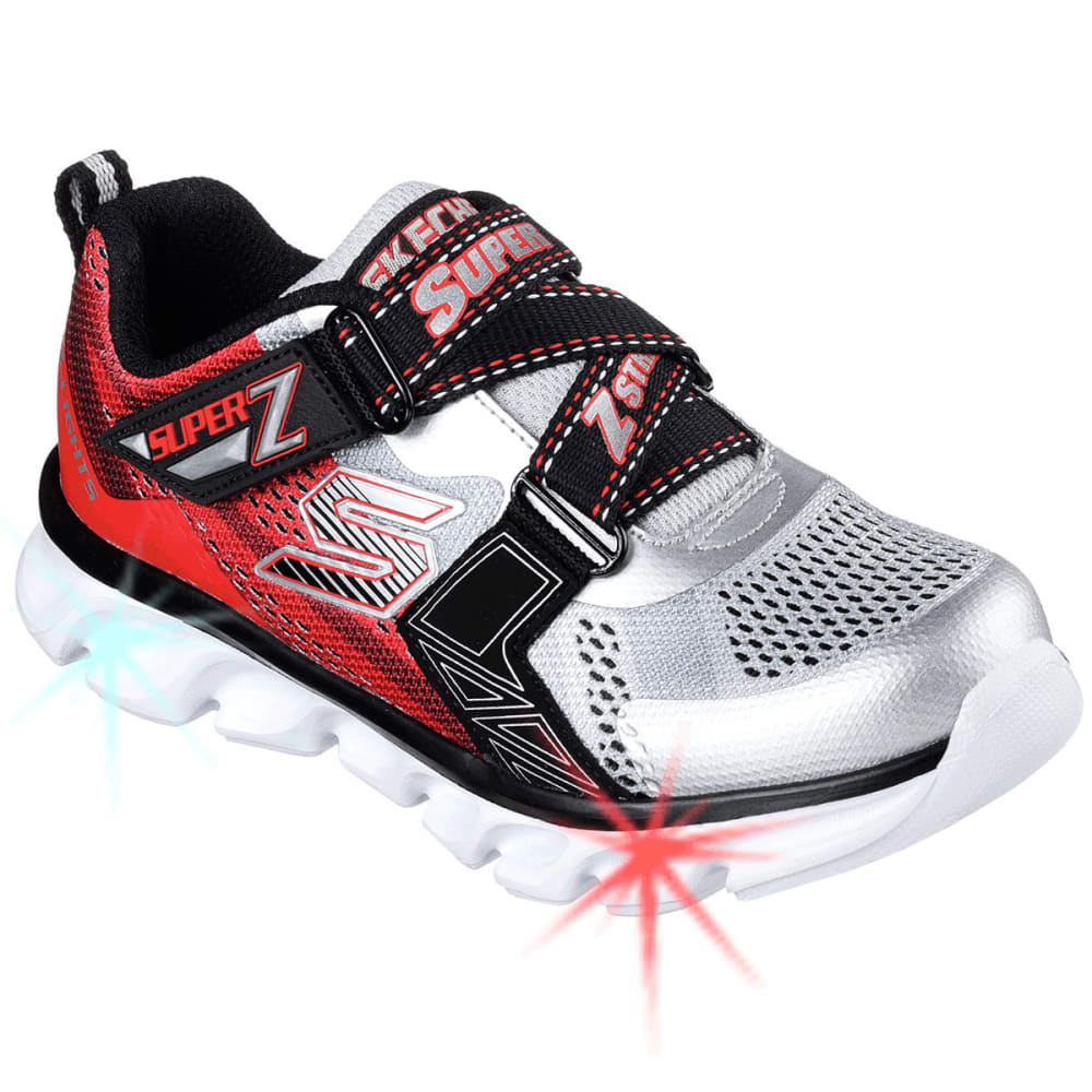 SKECHERS Boys' S Lights: Hypno-Flash Shoes - SILVER