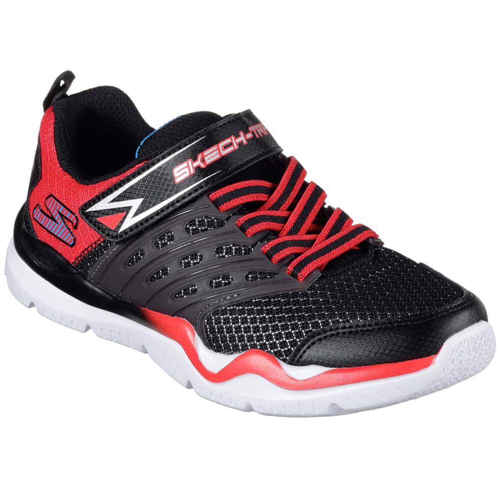 SKECHERS Boys' Skech-Train Sneakers, Black/Red 1.5