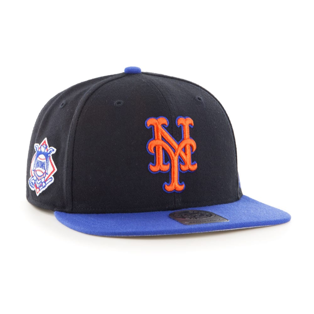 NEW YORK METS Men's Sure Shot Two Tone '47 Captain Hat - BLACK