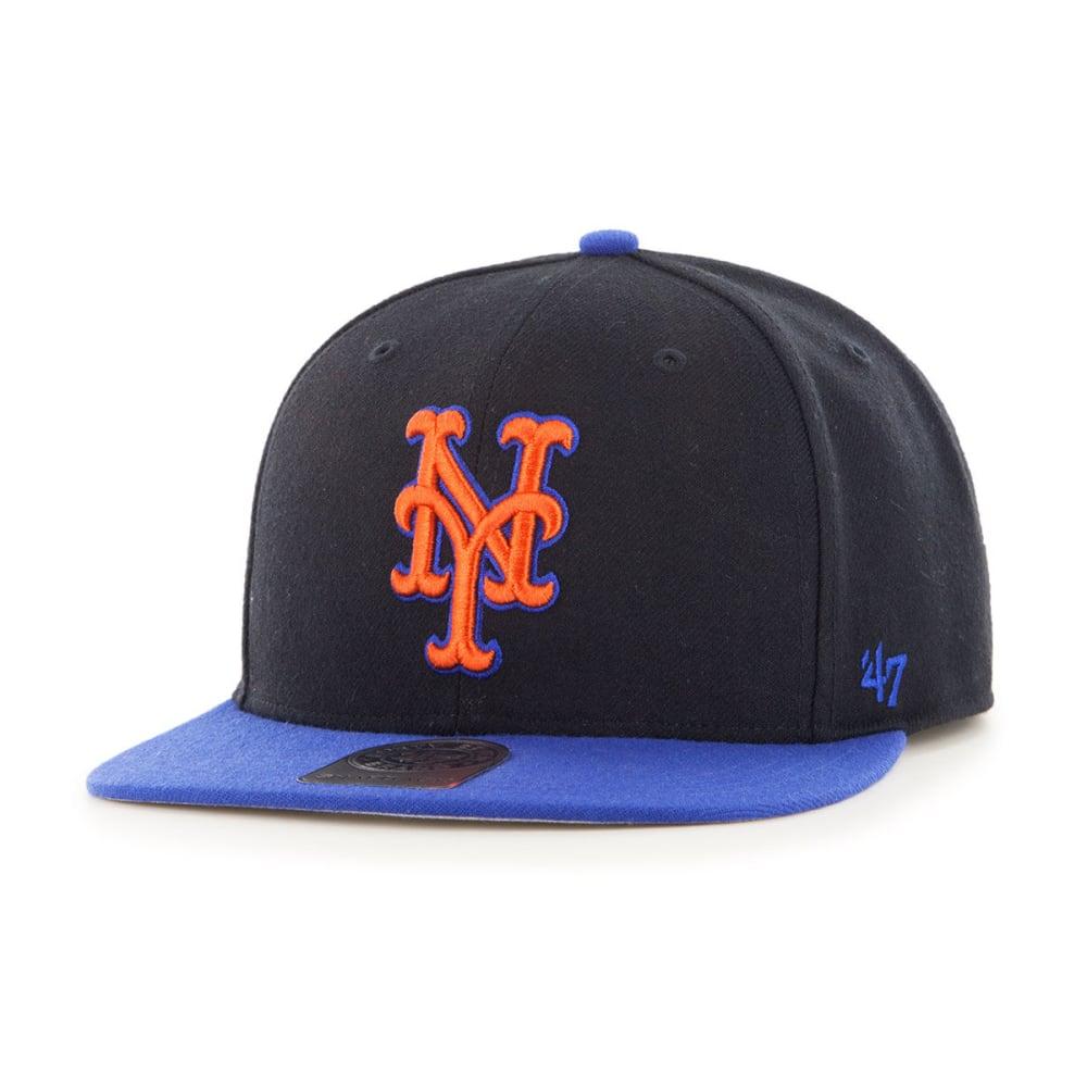 NEW YORK METS Men's Sure Shot Two Tone '47 Captain Hat - BLACK