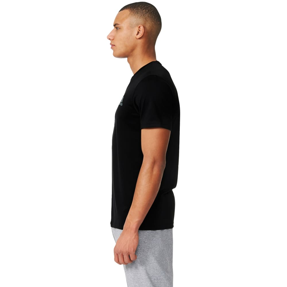 ADIDAS Men's Essential Tech Short-Sleeve Tee - BLK/VISTAGRY-AZ5138