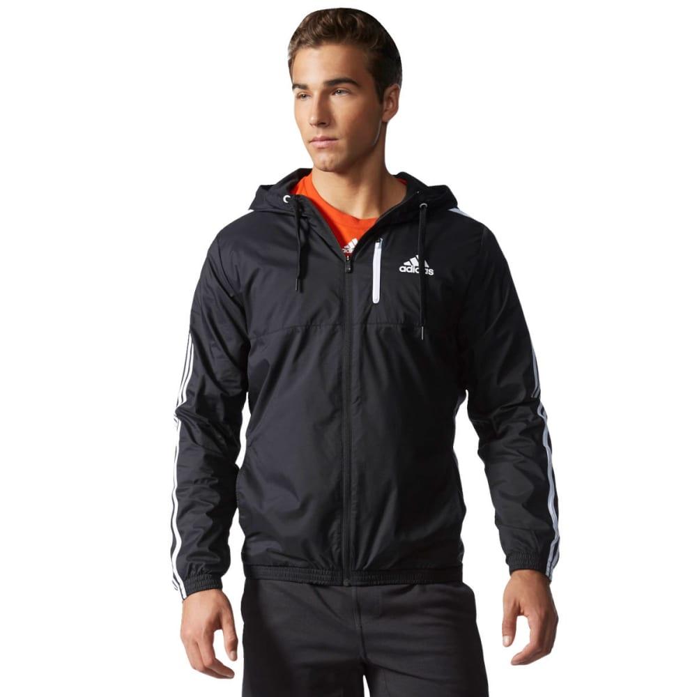 ADIDAS Men's Essentials Wind Jacket - BLK/WHT-AB2489