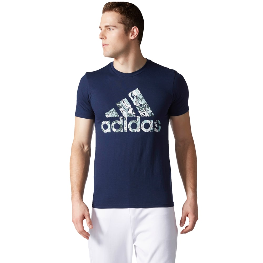 ADIDAS Men's Badge of Sport Fluid Short-Sleeve Tee - COL NVY/WHT-BP7599
