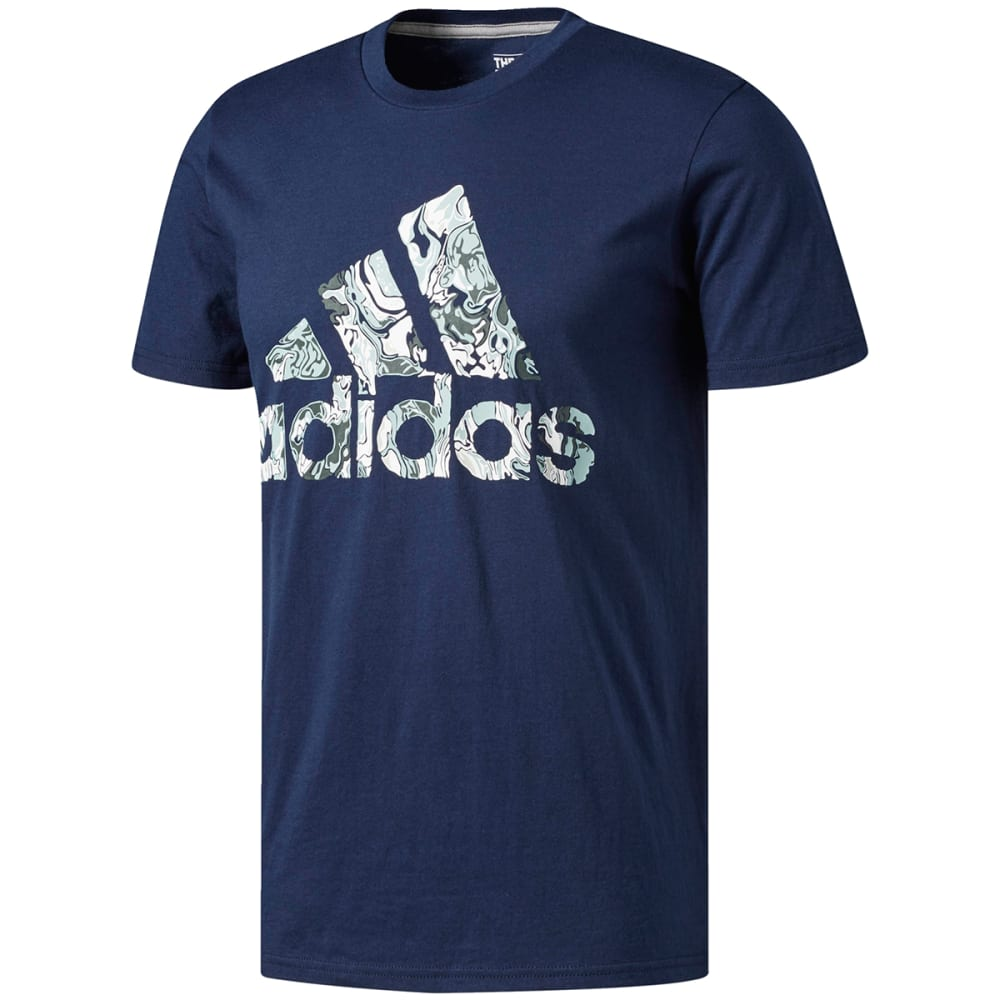 Adidas Men's Badge Of Sport Fluid Short-Sleeve Tee - Blue, XL