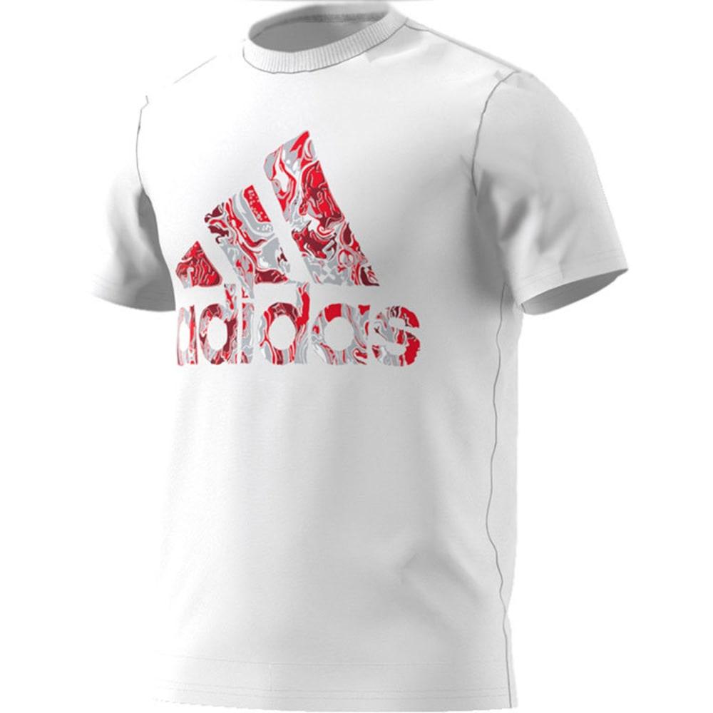 ADIDAS Men's Badge of Sport Fluid Short-Sleeve Tee - WHT/SCARLET-BP7536