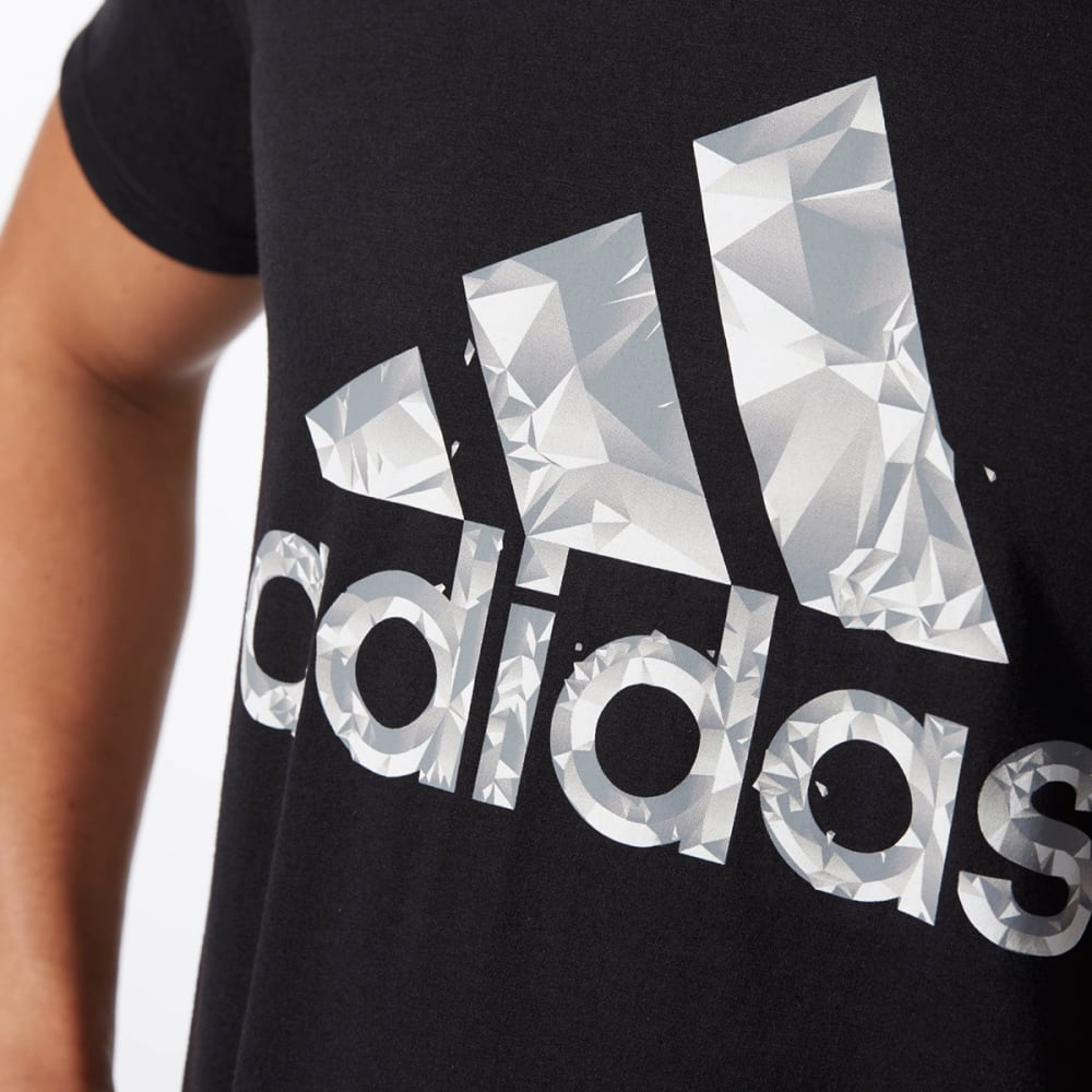 ADIDAS Men's Adi Shatter Short-Sleeve Tee - BLK/GRY/WHT-BP7564
