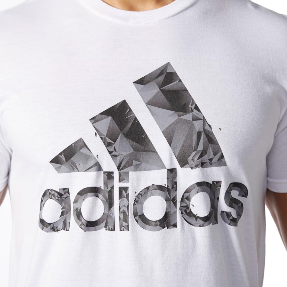 ADIDAS Men's Adi Shatter Short-Sleeve Tee - WHT/BLK/GRY-BP7561
