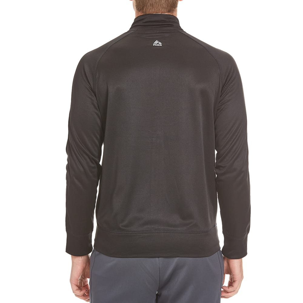 RBX Men's Poly Brushed Ripstop Overlay Jacket - BLACK