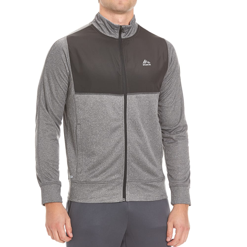 RBX Men's Poly Brushed Ripstop Overlay Jacket - GRAPHITE/BLACK