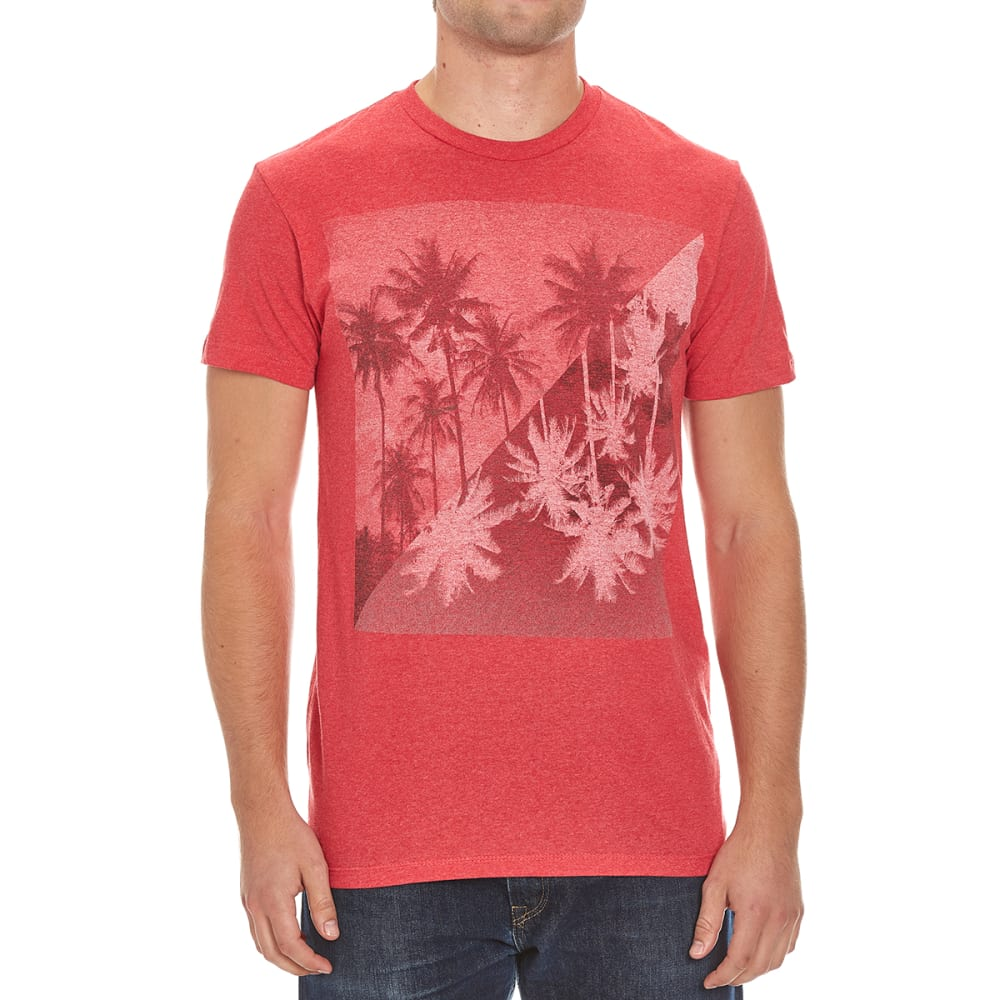 OCEAN CURRENT Guys' All Directions Tee - RED HEATHER