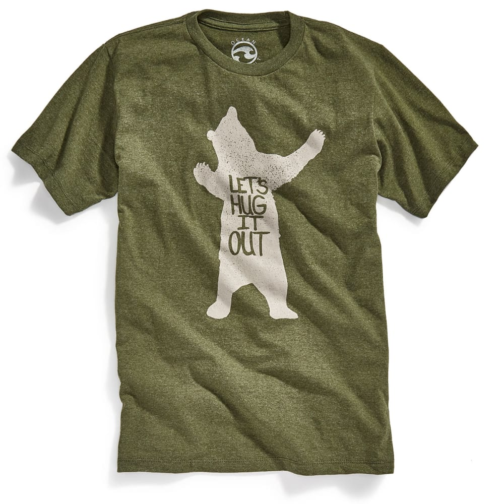 OCEAN CURRENT Guys' Hug It Out Graphic Short-Sleeve Tee - FOREST