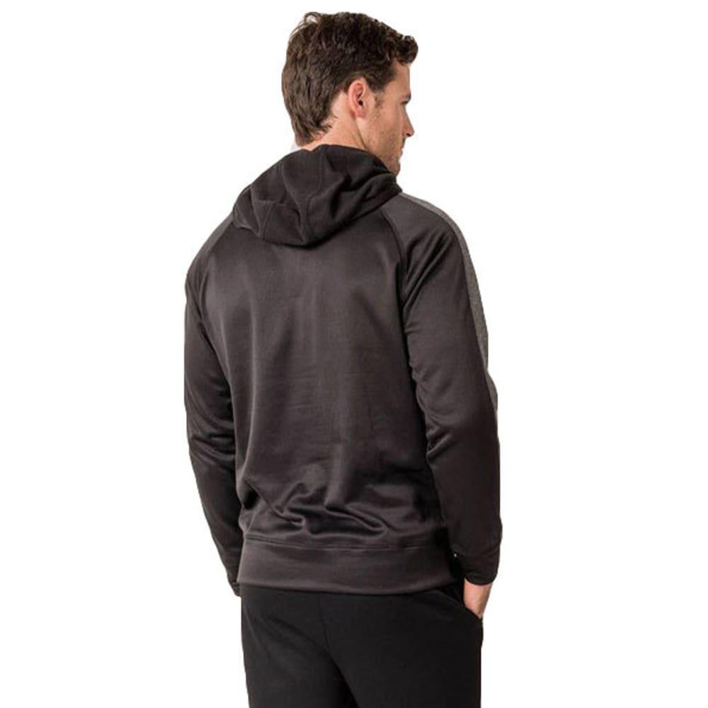 RBX Men's Stripe Tech Fleece Pullover Hoodie - BLACK
