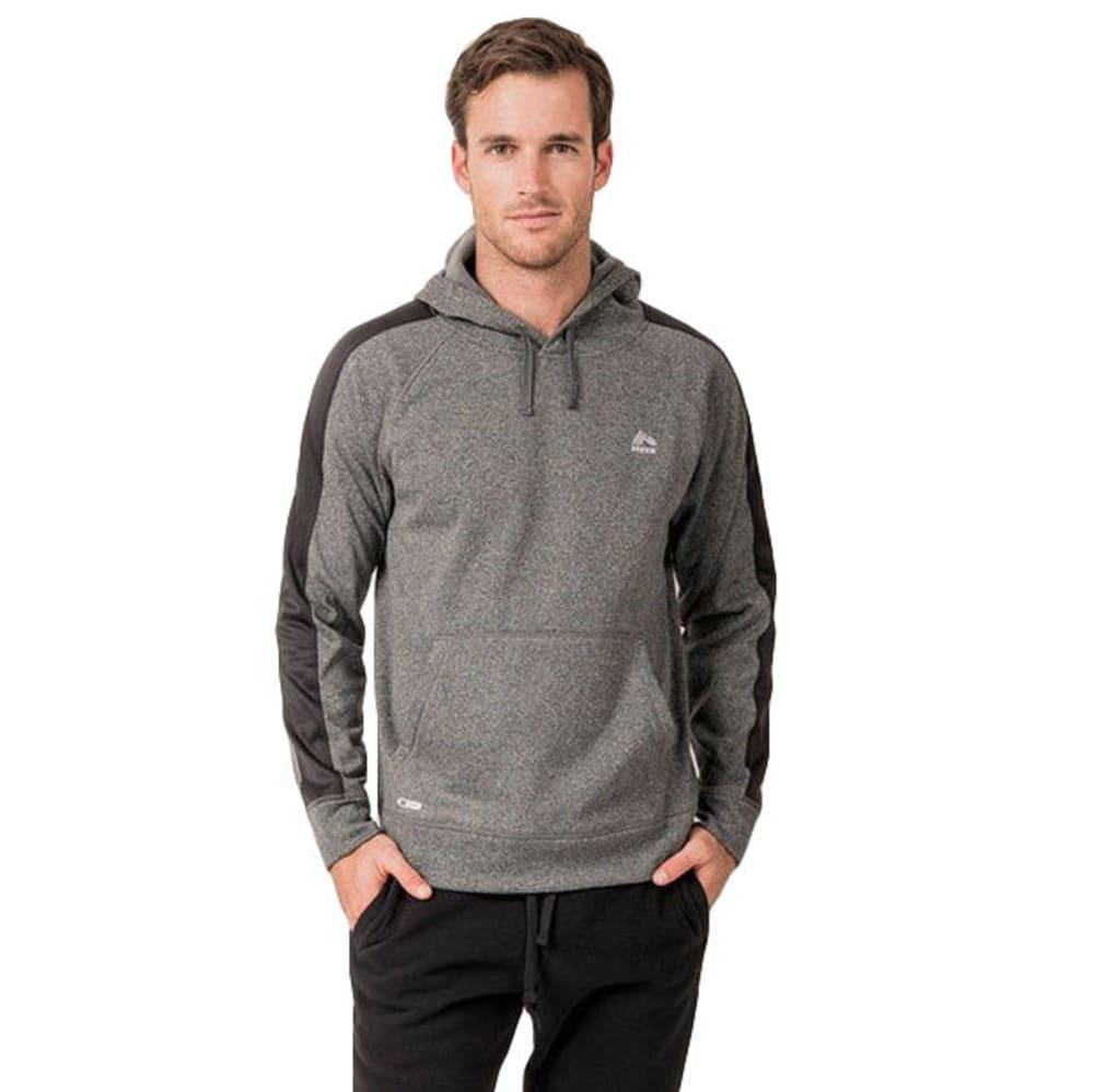 RBX Men's Stripe Tech Fleece Pullover Hoodie - CHARCOAL GREY HTHR