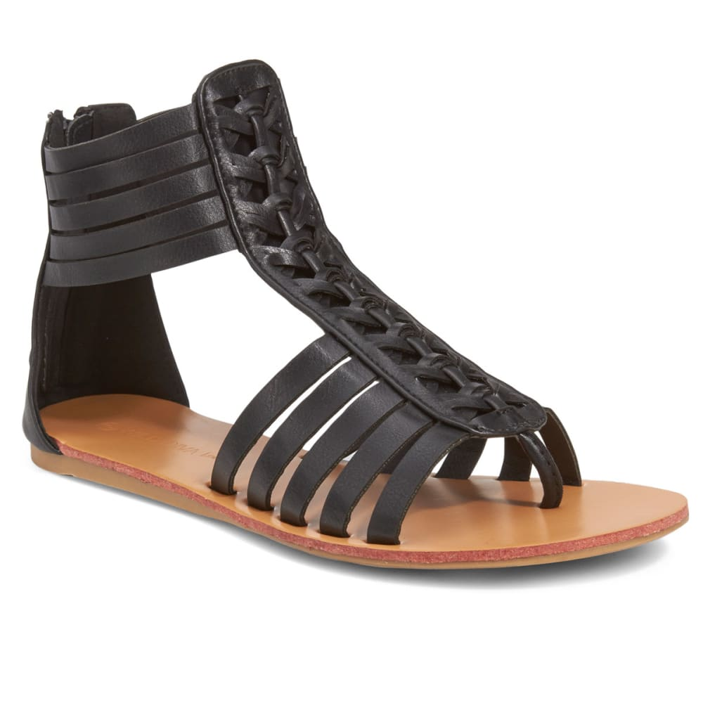 WILD DIVA Women's Clover-06 Sandals - BLACK