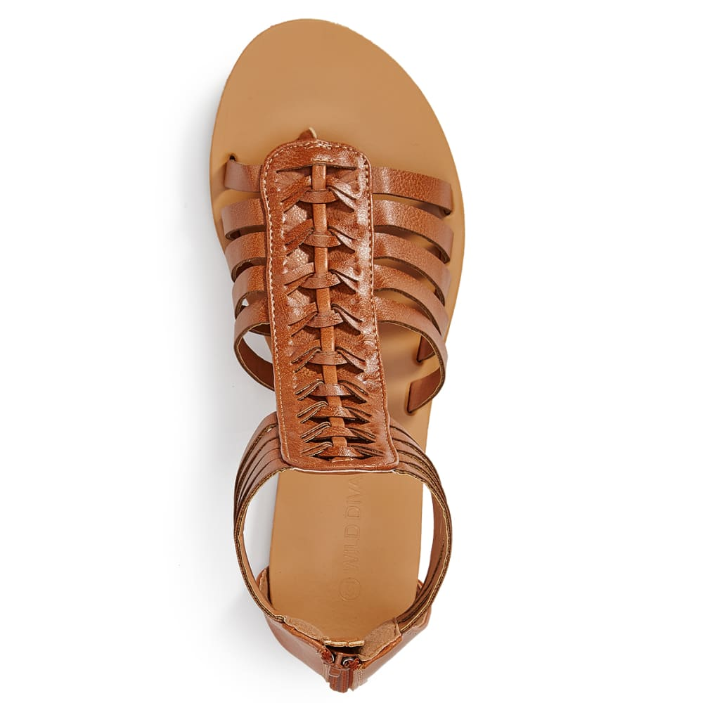 WILD DIVA Women's Clover-06 Sandals - WHISKEY