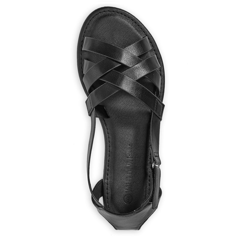 WILD DIVA Women's Clover-59 Sandals - BLACK