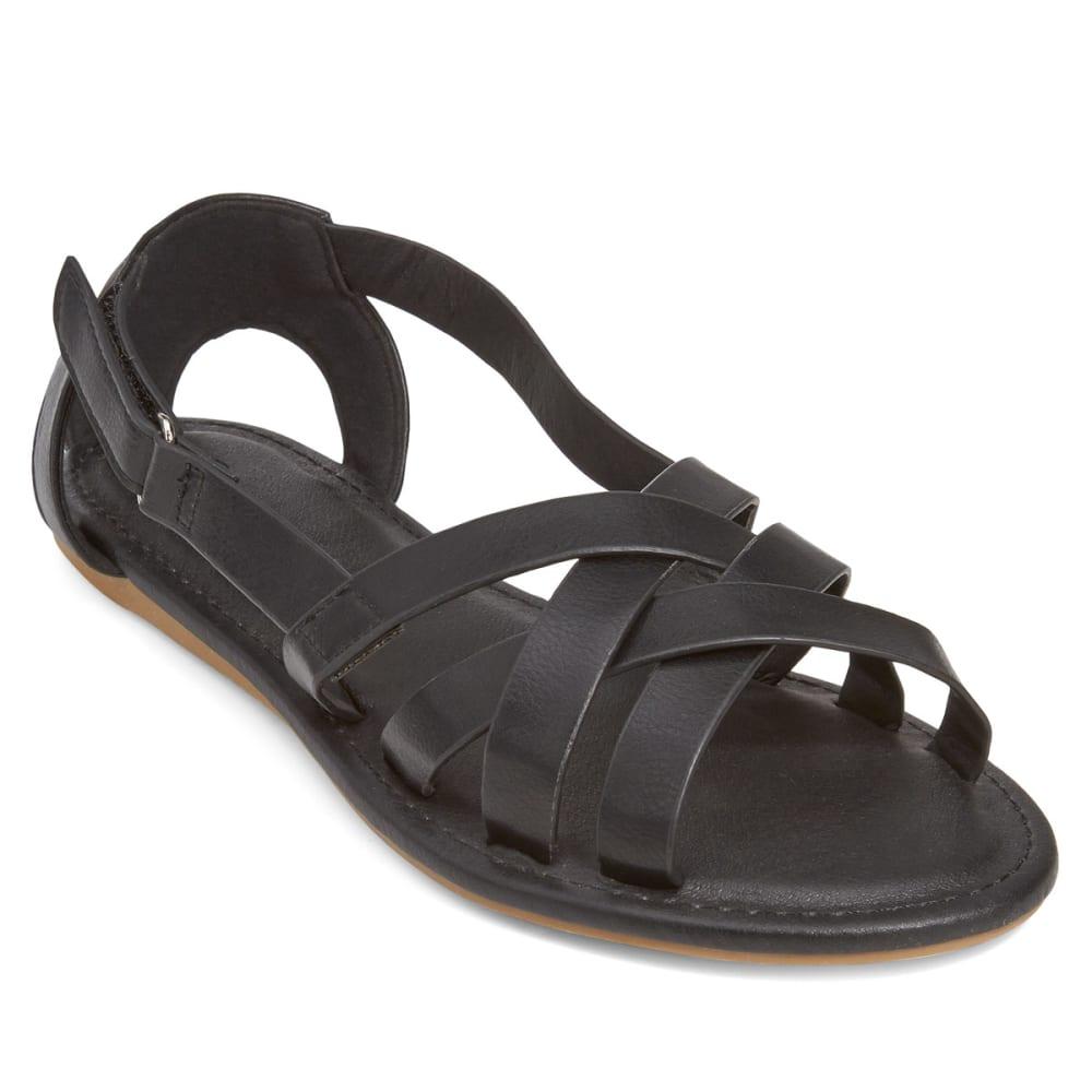 WILD DIVA Women's Clover-59 Sandals - BLACK