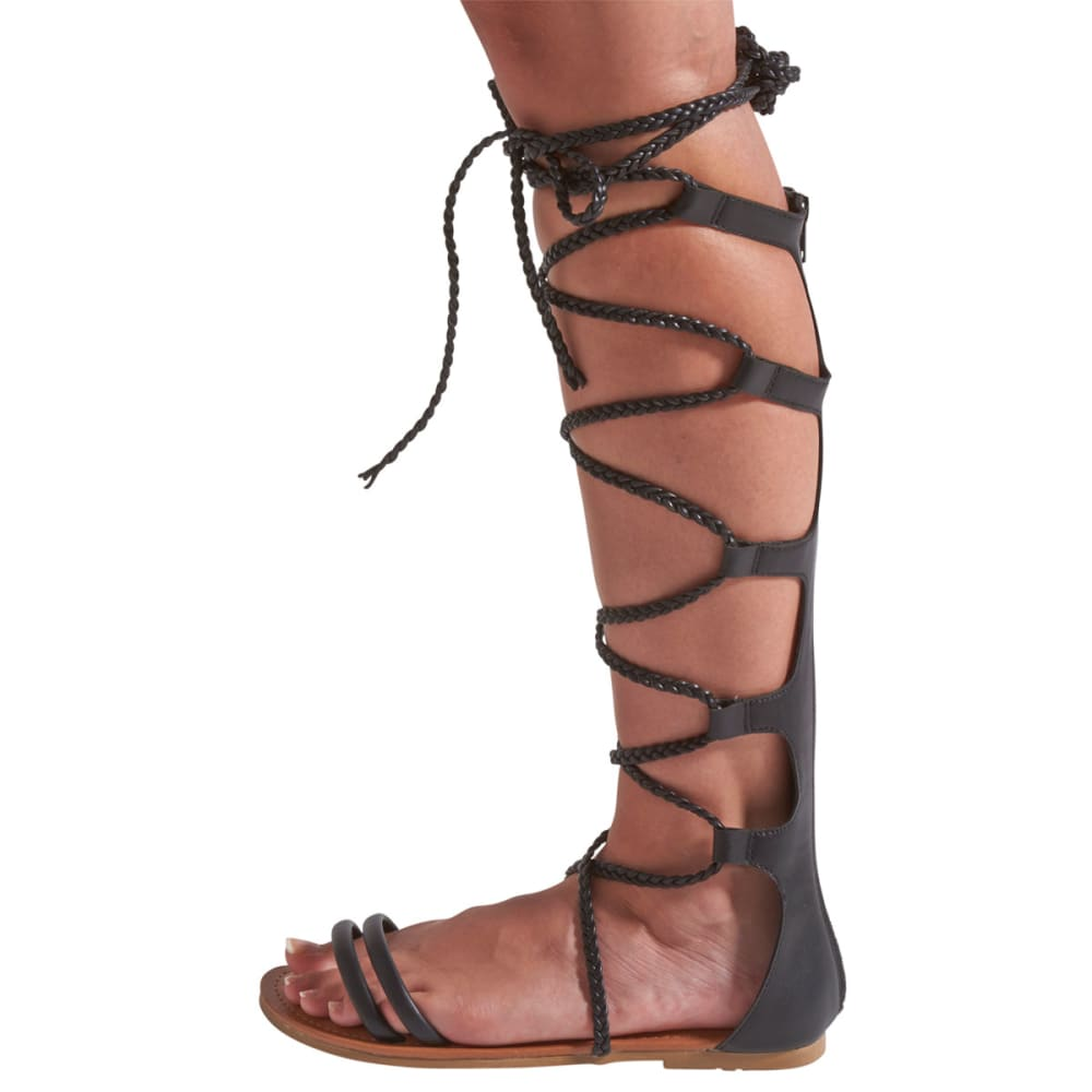 WILD DIVA Women's Leann-148 Tall Gladiator Sandals - BLACK