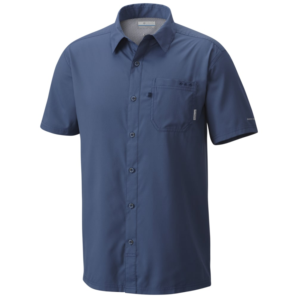 Columbia Men's Pfg Slack Tide Camp Shirt - Blue, XL