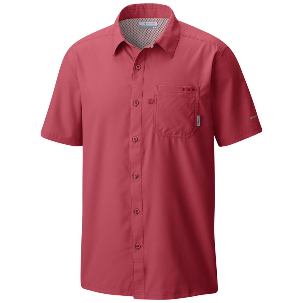 Columbia Men's Pfg Slack Tide Camp Shirt - Red, L